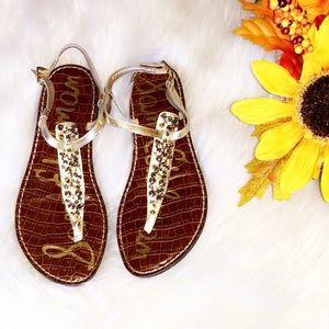 SAM EDELMAN Gwyneth Gold Stud Sandals